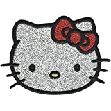 "Hello Kitty Headshot Glitter, Officially Licensed, Iron-On / Sew-On, Embroidered PATCH - 2.8"" x 3.9"""