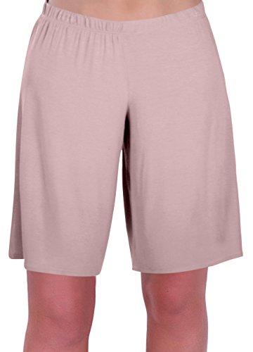 EyeCatch - Stern Damen Jersey Entspannt Komfort Elastisch Flexi Strecken Damen Kurze Hose Plus Größen (42/44, Creme) (La Sweatshirt Creme De Creme)