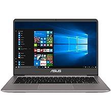 """ASUS ZenBook UX410U - Portátil de 14"""" FullHD IPS (Intel Core i5-7200U, 8 GB RAM, 1 TB HDD, Intel HD Graphics 620, Windows 10 Original) Gris cuarzo - Teclado QWERTY Español"""