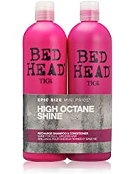 BED HEAD by TIGI High Octane Shine Recharge Shampoo and Conditioner - 750 ml (Pack of 2)