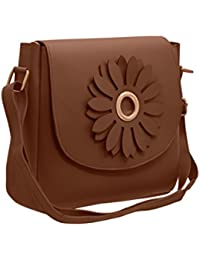TAP FASHION Fancy Stylish PU Leather Women's Sling Bag With Adjustable Strap For Ladies And Girls (WSB-4638-35...