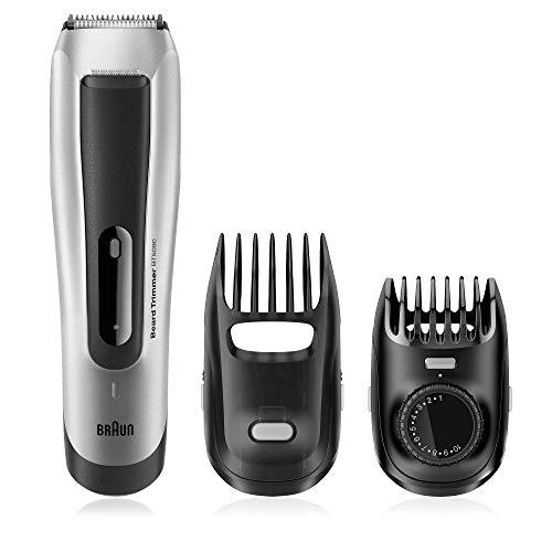 Braun BT 5090 - Recortadora barba, para hombre, con ajuste fino cada 0.5 mm y cortapelos de precisión, color negro/plata