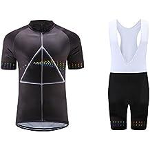 Uglyfrog Uomo Traspirante Asciugatura Veloce Confortevole Maglia Manica Corta + Pantaloncini Imbottiti Vestiti di Ciclismo Set DXMZ01