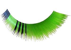 Eulenspiegel 000250 - pestañas artificiales - Verde/Negro - 2 x 1 piezas