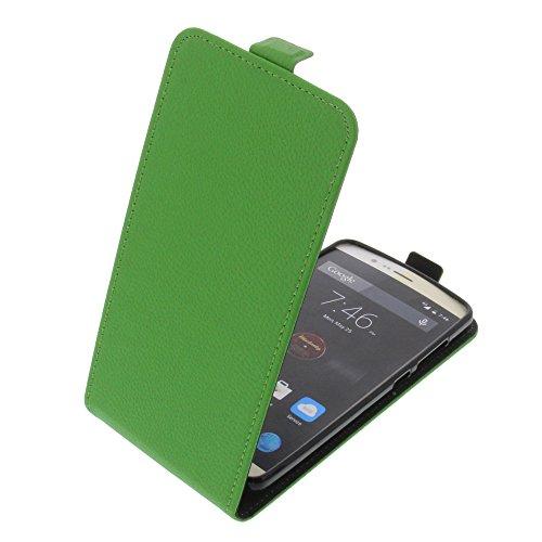 foto-kontor Tasche für Elephone P8000 Smartphone Flipstyle Schutz Hülle grün