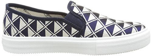 Inconnu Slip On Geometrico, Baskets Basses Mixte Adulte Bleu (30 Marino)