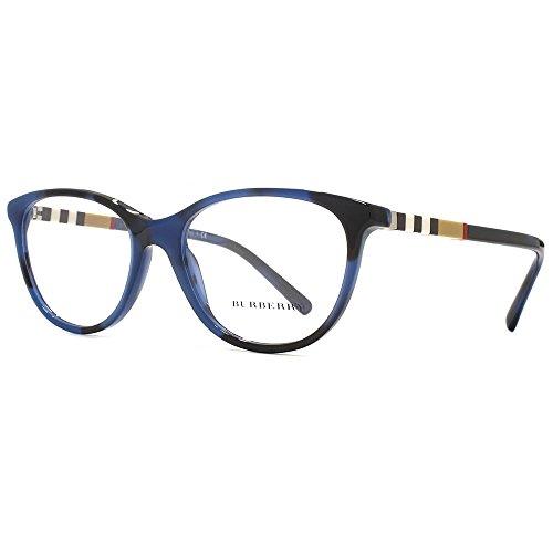 Burberry - BE 2205, Rechteckig, Acetat, Damenbrillen, SPOTTED BLUE(3546), 52/17/145