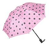 DORRISO Portátil Compacto Plegables Paraguas Linda Oso pequeño Resistente al Viento Impermeable Durable Ligero Cómodo Mujer Viaje Negocios Sombrilla Rosado