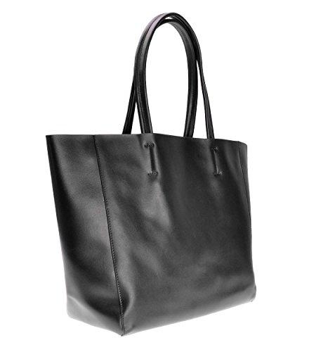 Spalla Zlyc pelle a tracolla borsetta Basic sfoderabile shopper grande borsa, Coffee (Marrone) - JC-BG-8001-CF-1 Black