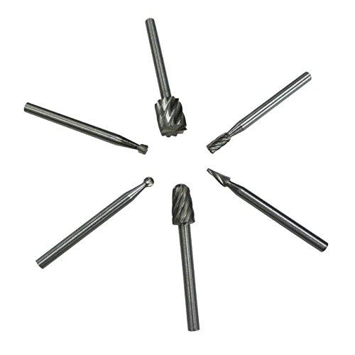 JRL Lot de 6 Fraises Rotatives en acier de tungstène carbure bavures Pour Dremel Outil rotatif