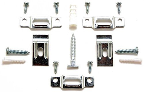 Picture Frame Security Hardware Complete Sets for Wood or Metal Frames up to 60 Wide - Twenty Five (25) Complete Sets with Wrench by ART DISPLAY SYSTEMS -
