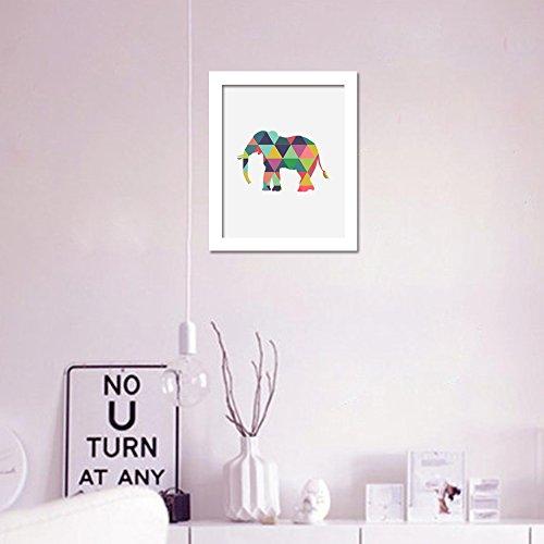 Walplus Wandaufkleber auf Leinwand, Motiv Elefant, Vinyl, Mehrfarbig, 40 x 30 x 3 cm