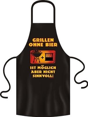 Fun Grillschuerze Grillen ohne Bier ist moeglich aber nicht sinnvoll! - Lustige Geschenkidee - Kochschuerze von Eatmyshirt!