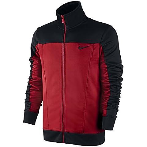 Nike Pacific Poly Knt Trk-Oh - Chaqueta para hombre, color negro / rojo, talla L