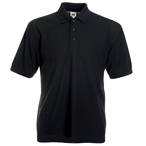Fruit of the Loom - Polo -  - Uni - Col chemise classique Homme Noir