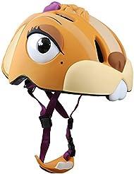 Abus Crazy Safety - Casco de ciclismo infantil para bicicleta de carretera, color amarillo