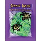 Spider Webs 13 Feet Stretchy Glow in the Dark Green for Halloween by DLUX by DLUX