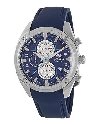 Reloj Marea Analógico Multifunción Hombre B54156/2 con Calendario, Correa de Silicona Azul y Esfera Azul