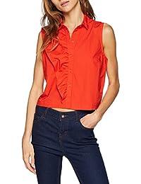 ONLY Damen Bluse Onlamanda Fabric Blocking S/L Shirt WVN