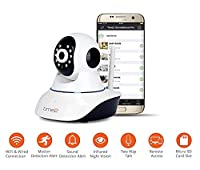Time2 IP Camera Home security camera, Wireless WiFi Camera, Pan/Tilt, Sound & Motion Detection, Night Vision, Surveillance, Recording, Remote access, 2WayAudio, Alerts, Elder/Nanny/Baby/Pet camera, Supports 64GB [UPGRADED]
