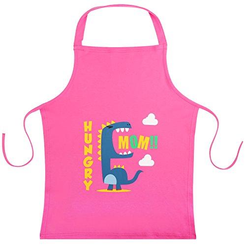 Nuovoware Grembiule Pittura Bambini, 56 x 45,7 cm Grembiulino Tessuto Lavabile Cuoco Cucina Pittura per Bambini Bambine - Rosa