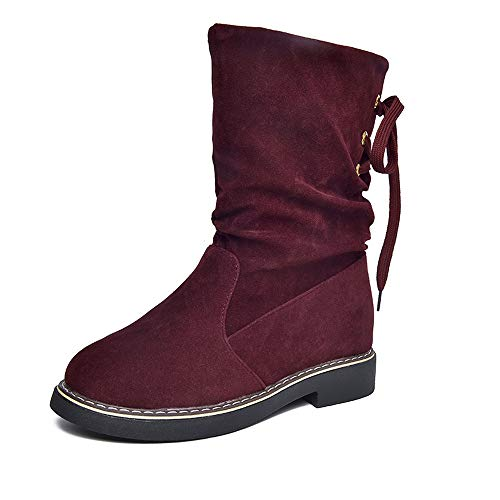 Ginli -20% donna stivali,paolian stivali donna slip-on soft stivali da neve round toe pelliccia inverno stivaletti