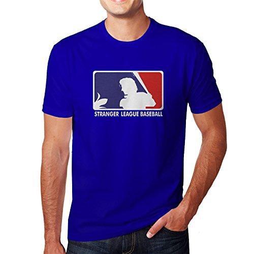 Planet Nerd Stranger League Baseball - Herren T-Shirt Blau