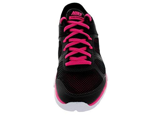 Nike Wmns Flex 2014 Rn, Chaussures de Running Entrainement Femme Black/Mtllc Slvr/Vvd Pnk/White
