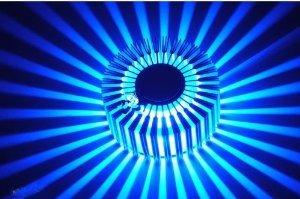 AC85 ~ 265V Saving Energy 3W Moderne LED-Wandleuchte mit Streulicht -blue
