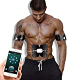 WJW EMS Bauchmuskeltoner Stimulator Mit 8 Modus 15 Intensität Mobil App Einfache Kontrolle Lademodus Intelligenter Bauch Faul Zuhause Fitnessgeräte Für Männer Frauen