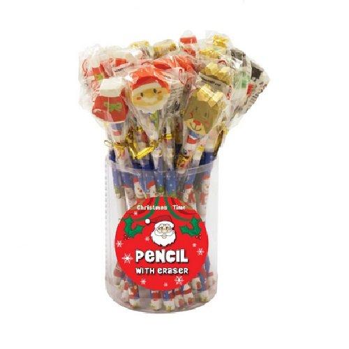 24 x matite di natale con la novità eraser più venduti - commercio all'ingrosso bulk acquista