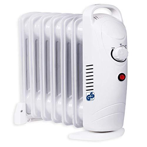 KESSER Ölradiator Aufheizzeit einstellbares Thermostat 800W 7 Rippen Öl Radiator Elektroheizung mobil Heizer Heizkörper allergikerfreundlich -