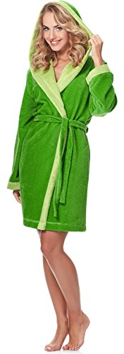 Merry Style Accappatoio per Donna MSLL1002 Verde(4038