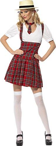 Weihnachtsmann Großbritannien Kostüm Kinder (Smiffy's 31030L Schulmädchen-Kostüm, L,)