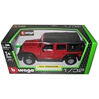 Jeep Wrangler Unlimited Rubicon 4 Doors Red 1/32 by Bburago 43012 by Jeep - Wrangler Unlimited Rubicon