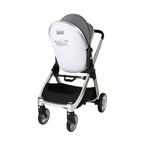 Marvel 2in1 Pram - Dove Grey (+ x2 Footmuff + x1 Car Seat Raincover) iSafe Includes Free Carseat Raincover + Carseat Footmuff + Stroller Footmuff Complete With Free Raincover For Seat Unit Complete With Free Boot Cover 6