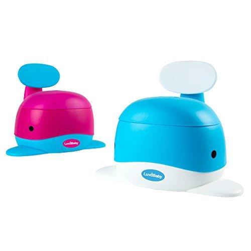 Walfisch-Töpfchen-Sitz – Lustiger Sitz für das Toiletten Training für Jungen und Mädchen – Stabil und bequem für Ihr Kleinkind (blau)