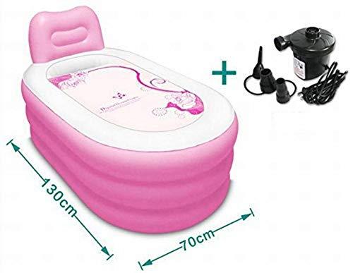 GZ Aufblasbare Badewanne, Dickere Erwachsene Wanne Falten Plastik Blaues Rosa 130 * 70Cm 3 Kilogramm Falten, Bequemer Pool,Rosa,1