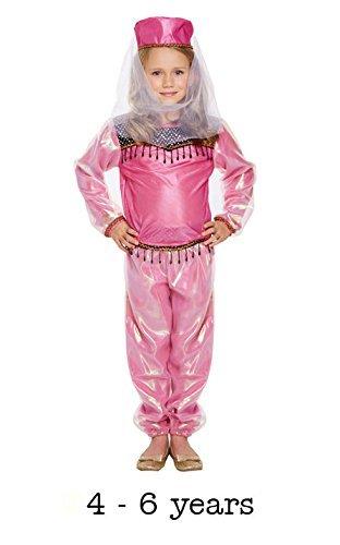 Kostüm Kinder Bollywood Mädchen Klein 4-6 (Bollywood Kind Kostüme)