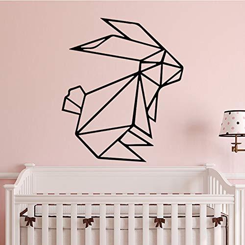 Cute Bunny Wandaufkleber Dekoration Zubehör Selbstklebende Wandaufkleber Für Wohnzimmer Schlafzimmer Diy Vinyl Wandkunst Aufkleber 43 cm X 52 cm