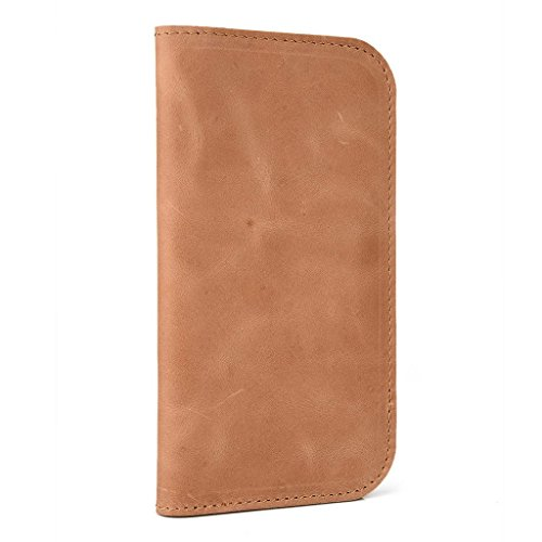 Étui portefeuille en cuir véritable pour ZTE Sonata 4G Coque Brun - peau Brun - peau