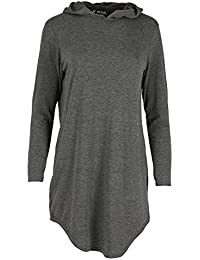 Fashion Star Women's Tunic Casual Dress Plus Size (Uk 24/26) Charcoal
