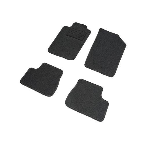 DBS 1765687 Tapis Auto - Sur Mesure - Tapis de sol pour Voiture - 4 Pièces - Moquette noir 600g/m² - Gamme One