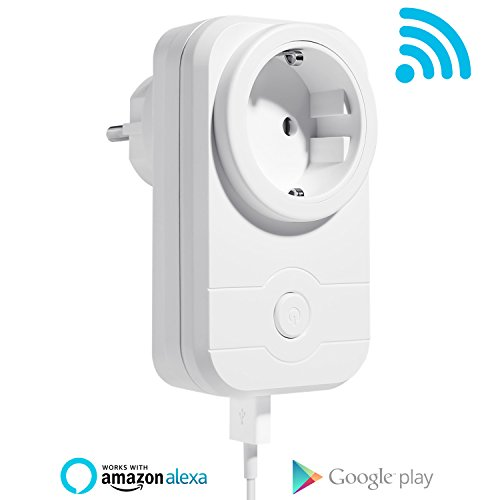 NEXGADGET Enchufe Inteligente Wifi con Puesto USB Amazon Alexa, Asistente de Google, IFTTT 1 PACK