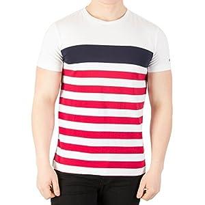 Tommy Hilfiger NAS STP C-nk tee S/S RF, Camiseta para Hombre