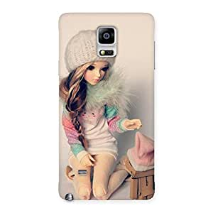 Delighted Cute Winter Doll Multicolor Back Case Cover for Galaxy Note 4