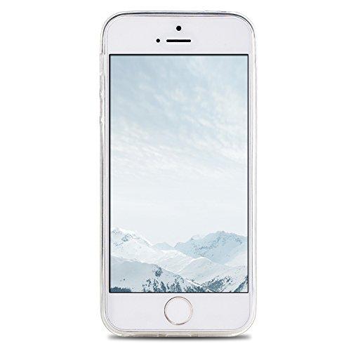 iphone 5 / 5s / SE Hülle, E-Lush TPU Soft Silikon Tasche Transparent Schale Clear Klar Hanytasche für iphone 5 / 5s / SE Durchsichtig Rückschale Ultra Slim Thin Dünne Schutzhülle Weiche Flexibel Handy Kleiner Pegasus