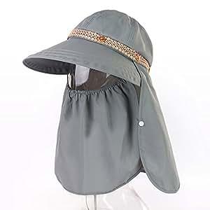 c0bd371bb YXLMZ Ladies Women Sun Hat Summer Sun Veil Uv Resistant Outdoor W ...