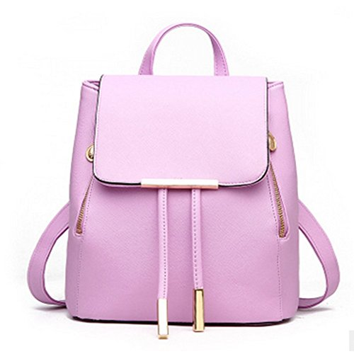 sfpong, Borsa a zainetto donna Brown-04 large light purple