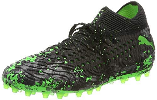 dda331a5e4f25 Puma Future 19.1 Netfit MG, Zapatillas de Fútbol para Hombre, Negro  Black-Charcoal Gray-Green Gecko, 43 EU